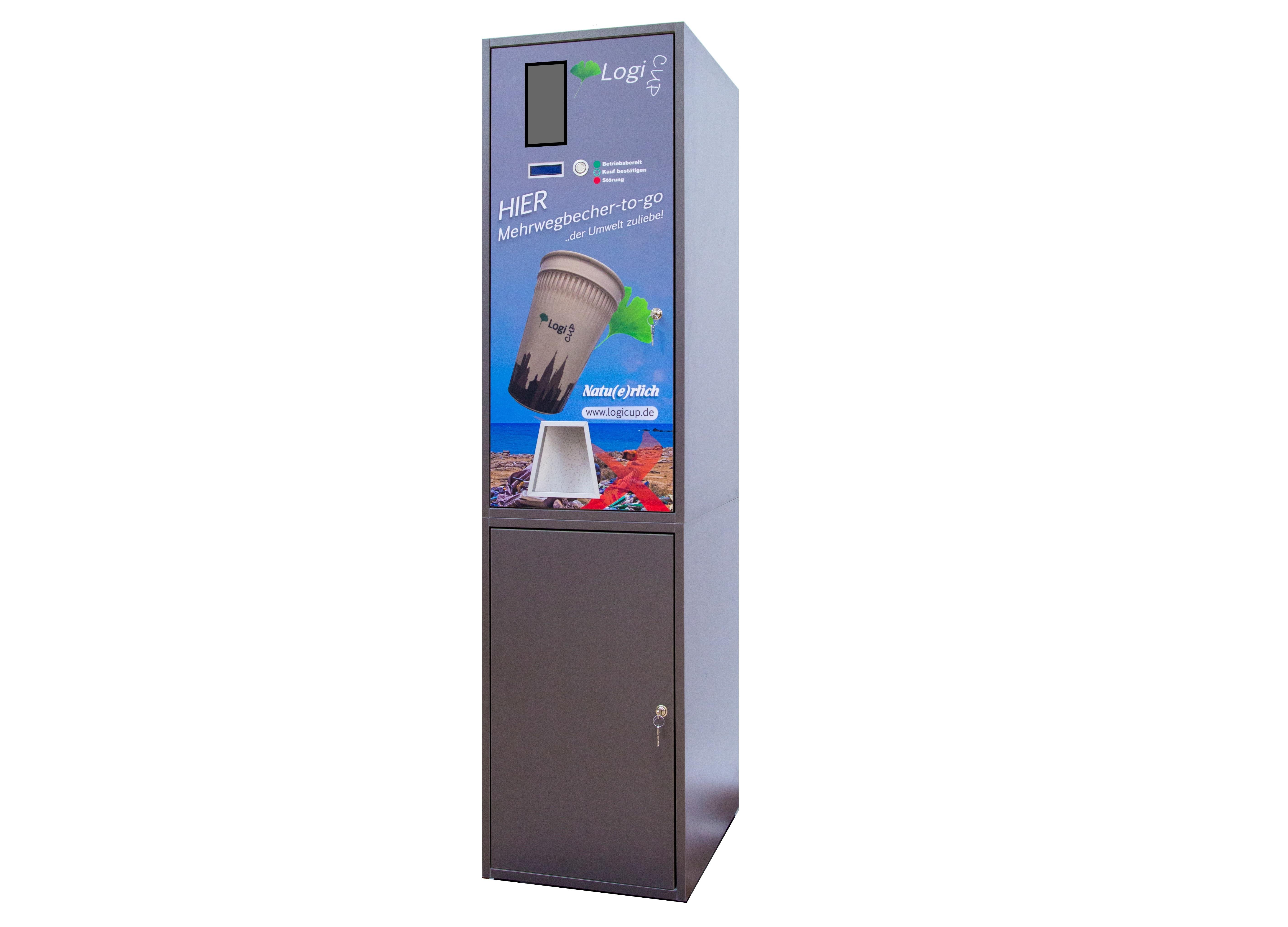 Becherausgabeautomat - Standgerät mit Unterschrank